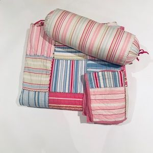 Pottery Barn Kids Striped Patchwork Quilt Set